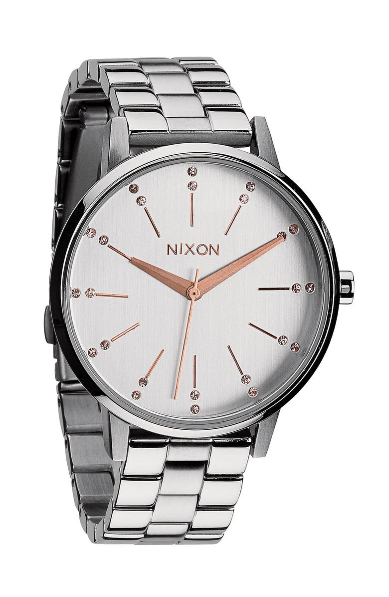 NIXON 'Kensington' Crystal Bracelet Watch, 37mm, Main, color, 040
