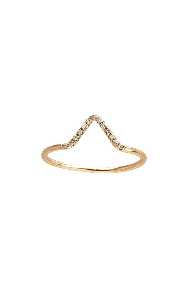WWAKE Micropavé Triangle Ring, Main, color, 710
