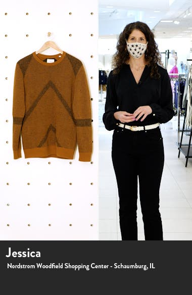 Painted Zigzag Wool & Cashmere Crewneck Sweater, sales video thumbnail