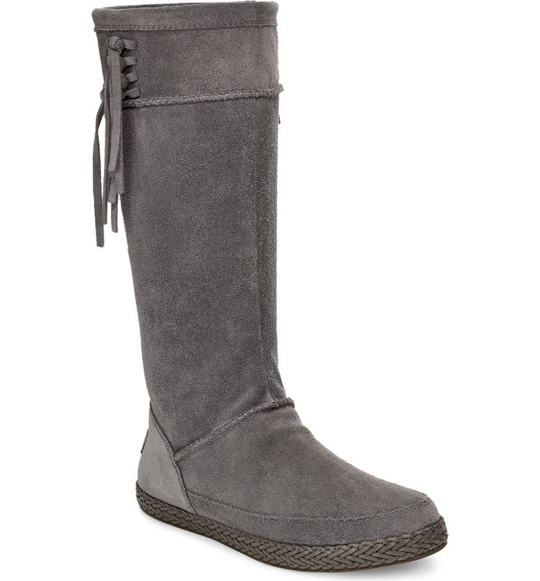 UGG<SUP>®</SUP> Emerie Tall Boot, Main, color, CHARCOAL SUEDE