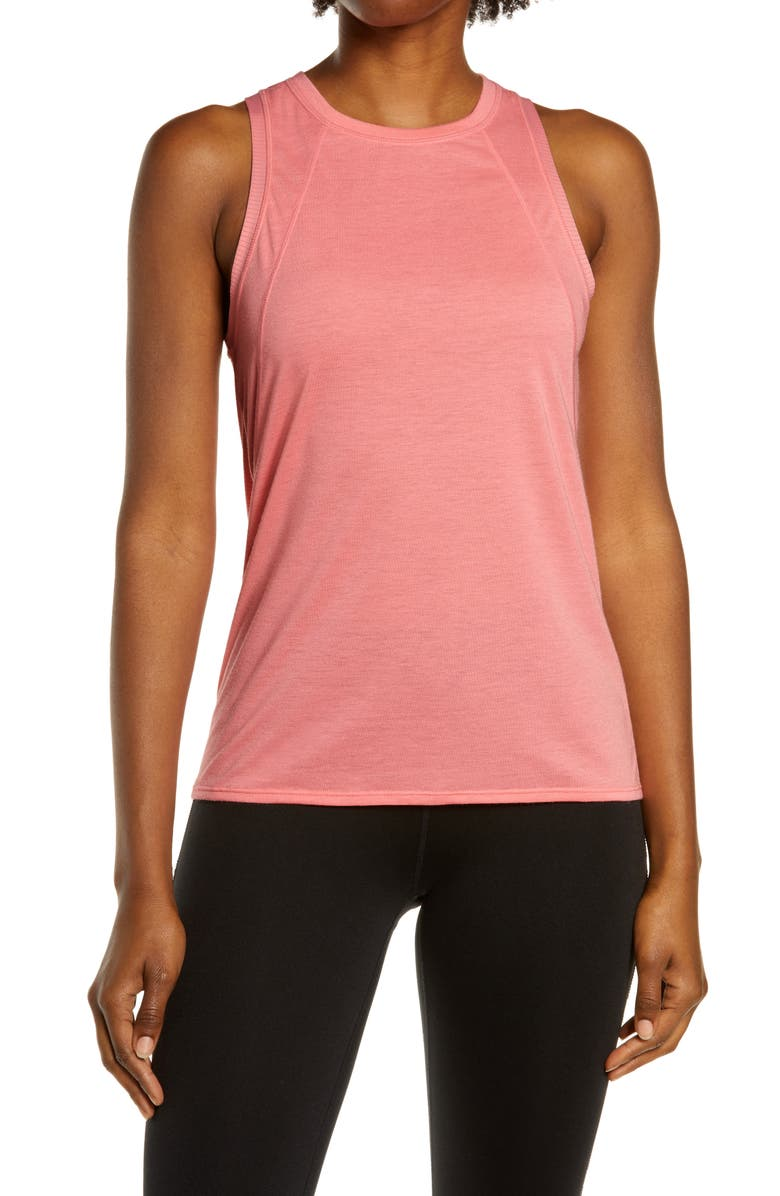 SWEATY BETTY Pacesetter Running Tank, Main, color, CALYPSO PINK