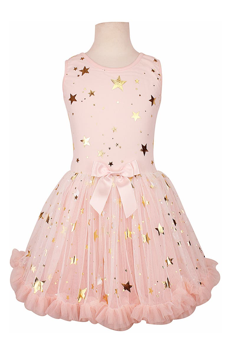 POPATU Metallic Star Pettidress, Main, color, PEACH