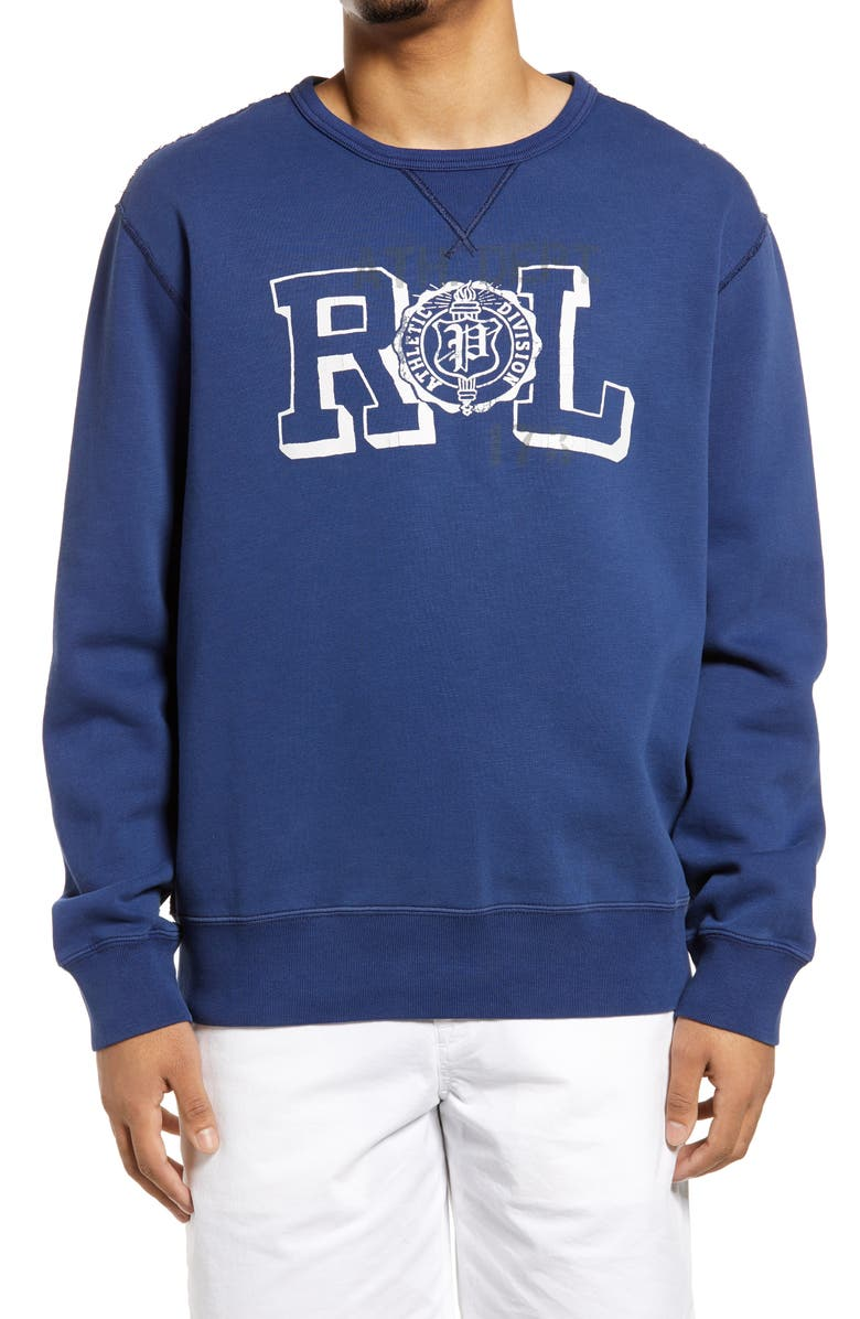 POLO RALPH LAUREN Men's Savannah Logo Graphic Sweatshirt, Main, color, FRESHWATER