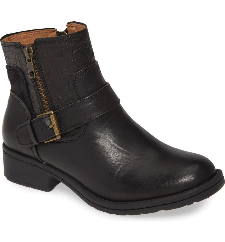 COMFORTIVA Sterns Bootie, Main, color, BLACK LEATHER