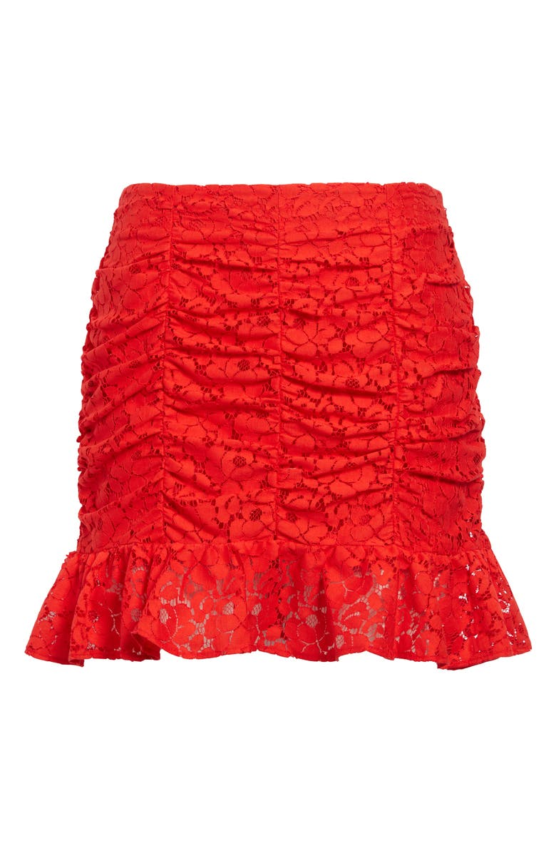 LEITH Lace Miniskirt, Main, color, RED BLOOM