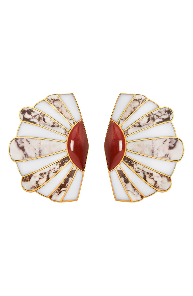 MONICA SORDO Mullu Ear Fan Earrings, Main, color, 100