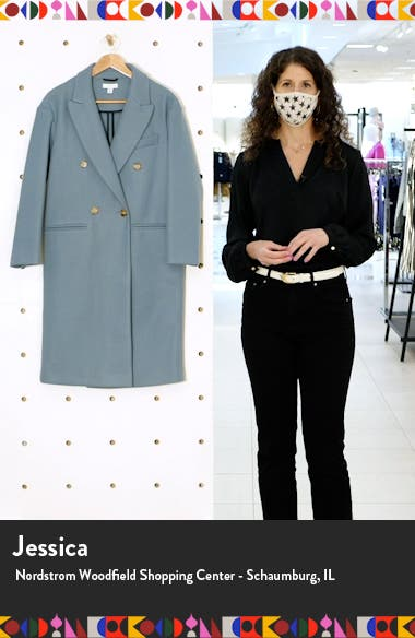 Brooke Double Breasted Long Coat, sales video thumbnail