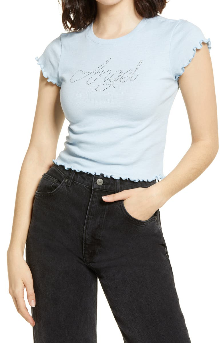 BP. Ribbed Baby Tee, Main, color, BLUE CASHMERE ANGEL