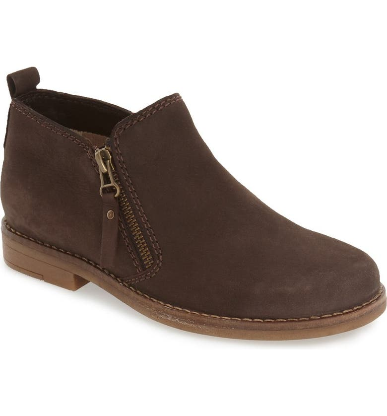 HUSH PUPPIES<SUP>®</SUP> 'Mazin Cayto' Bootie, Main, color, BROWN NUBUCK LEATHER