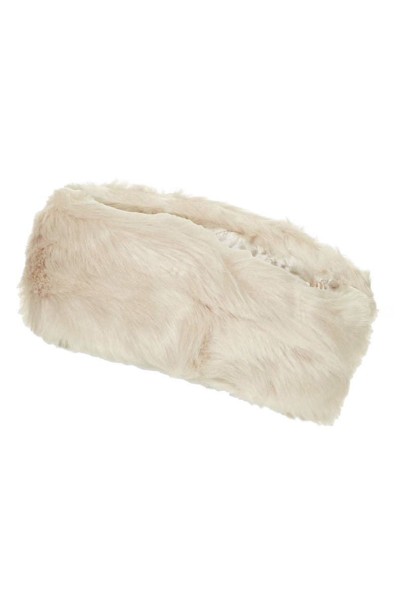 TOPSHOP Faux Fur Headband, Main, color, 250