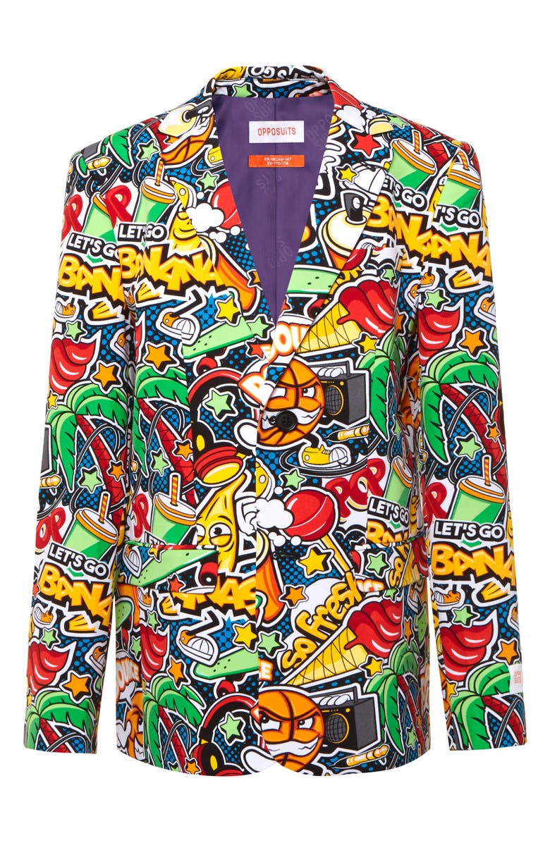 OPPOSUITS Street Vibes Two-Piece Suit with Tie, Main, color, MULTI