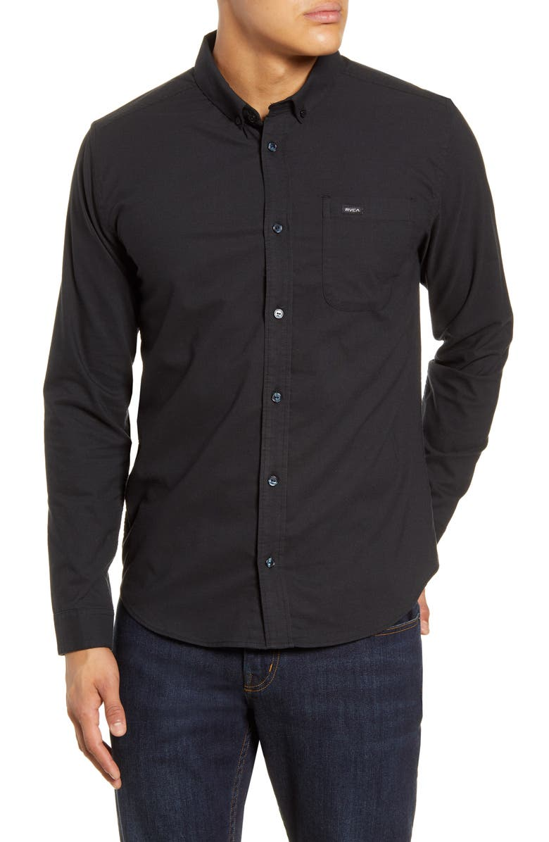 RVCA That'll Do Button-Down Shirt, Main, color, 001