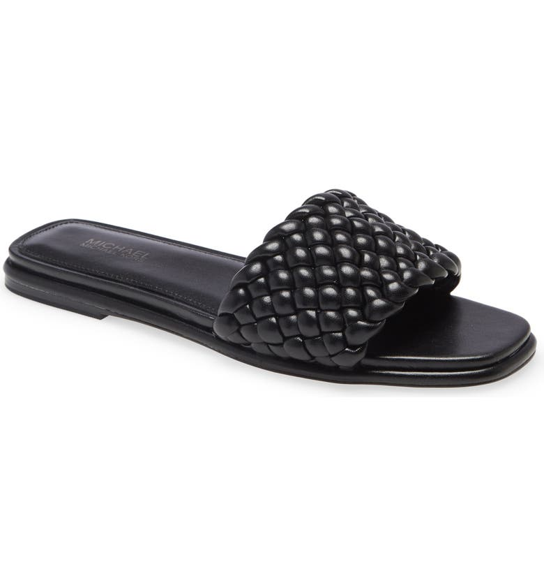 MICHAEL MICHAEL KORS Amelia Slide Sandal, Main, color, BLACK
