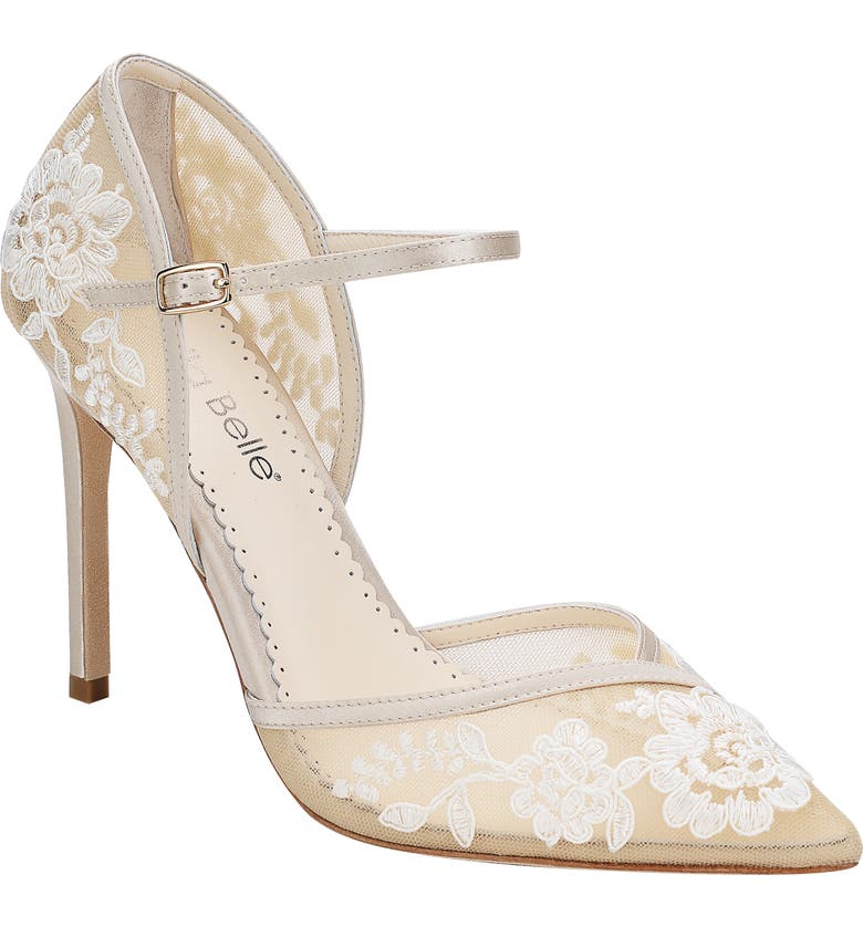 BELLA BELLE Claudia Embroidered Pump, Main, color, NUDE SILK