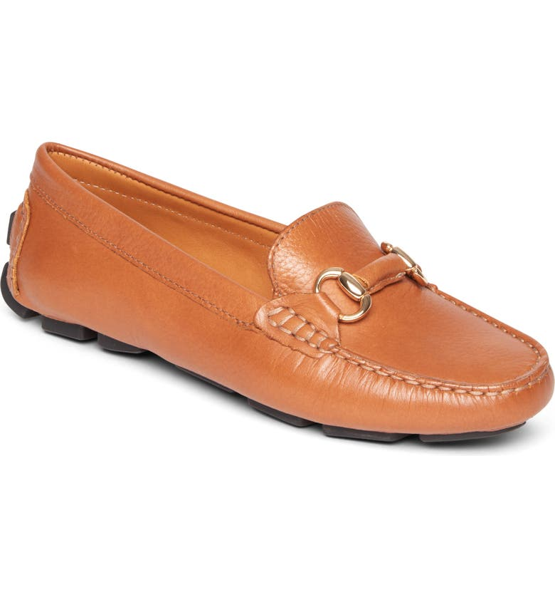 ROCKPORT Bayview Bit Keeper Flat, Main, color, TAN LEATHER