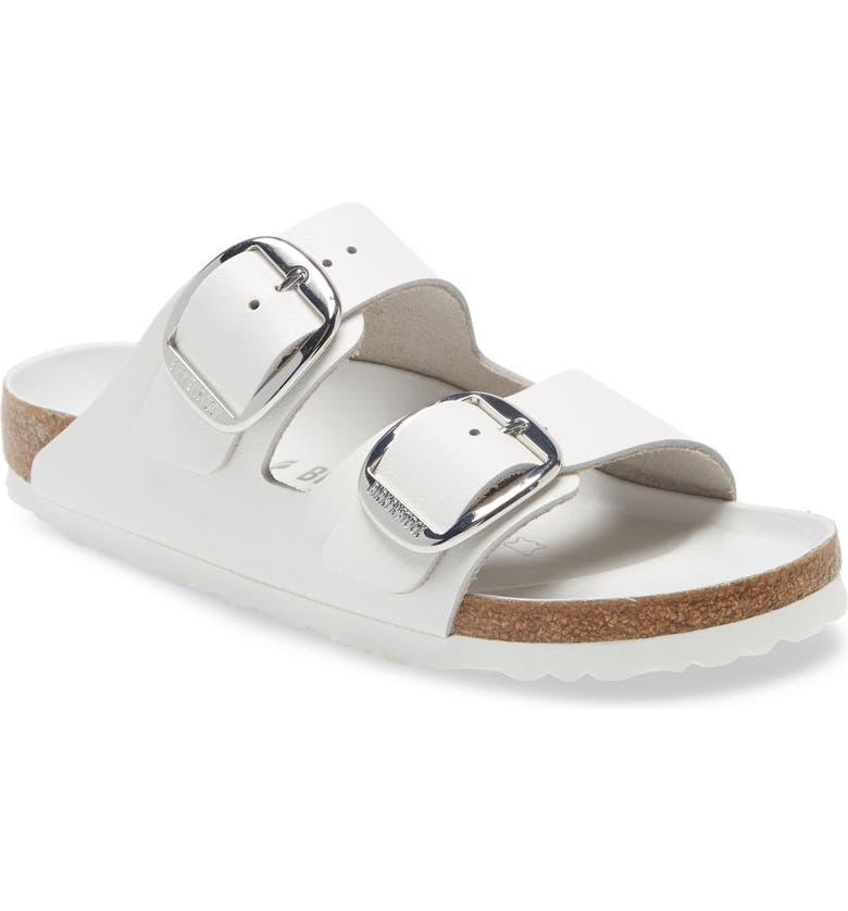 BIRKENSTOCK Arizona Hex Slide Sandal, Main, color, WHITE LEATHER