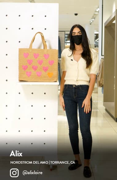 Be Mine Straw Tote, sales video thumbnail