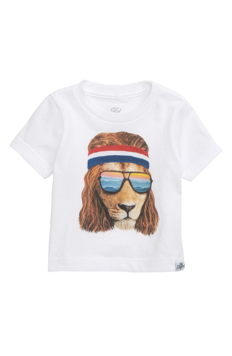 KID DANGEROUS Lion Shades Graphic T-Shirt, Main, color, 100