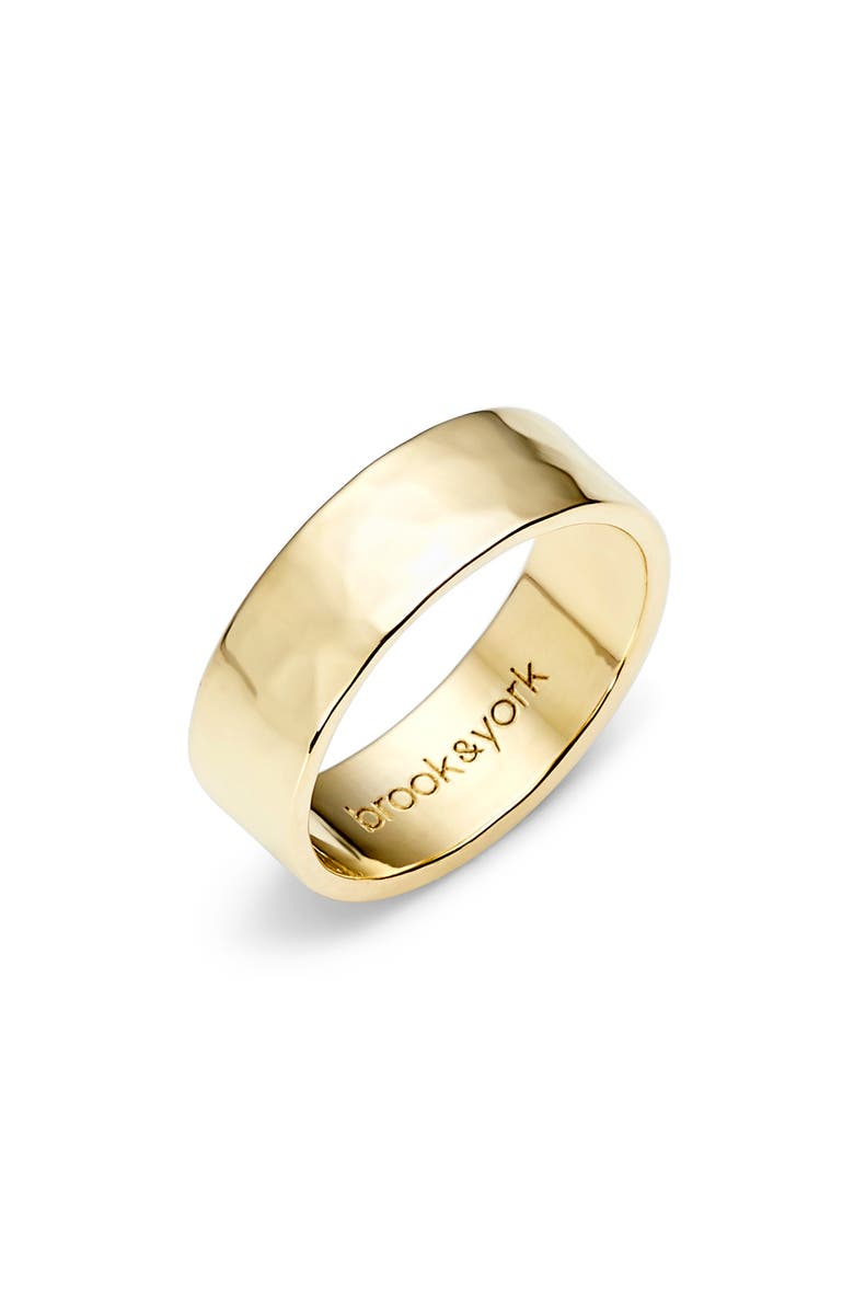 BROOK AND YORK Maren Hammered Band, Main, color, Gold