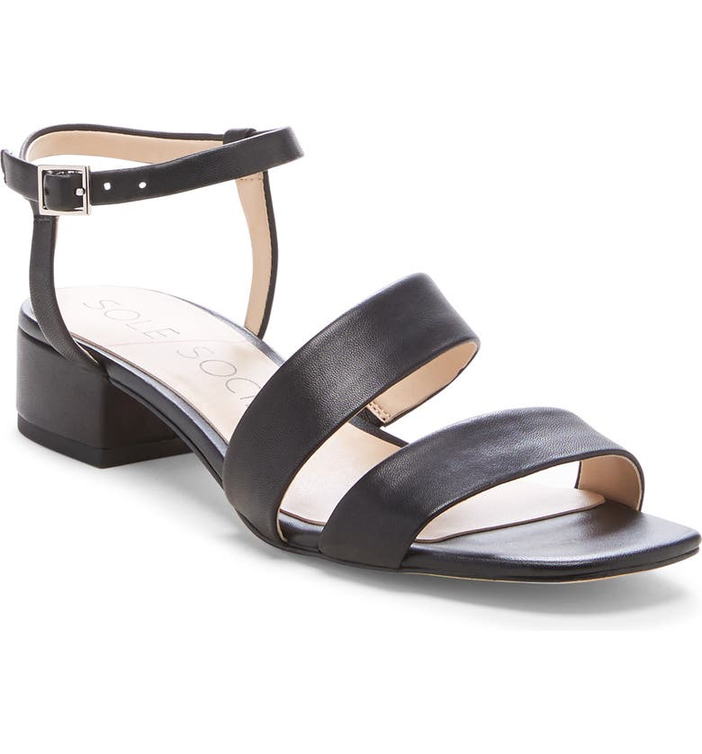SOLE SOCIETY Francey Sandal, Main, color, 001