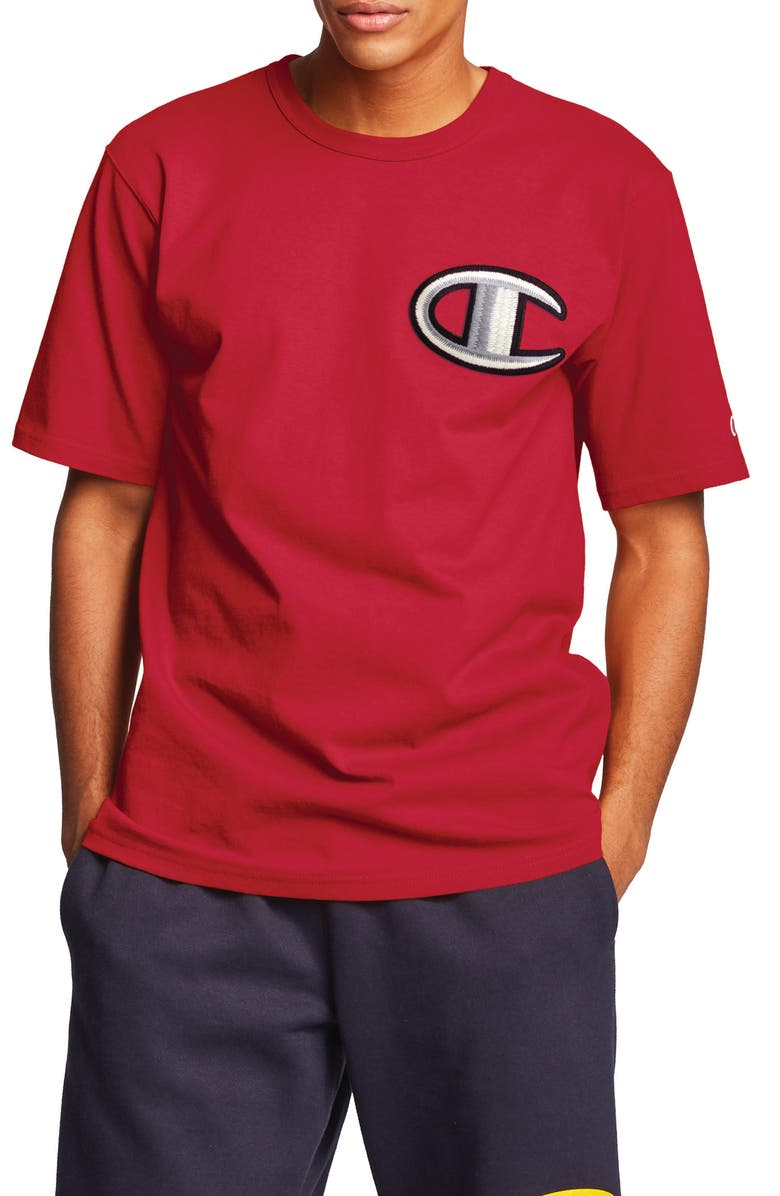 CHAMPION Heritage T-Shirt, Main, color, TEAM RED SCARLET