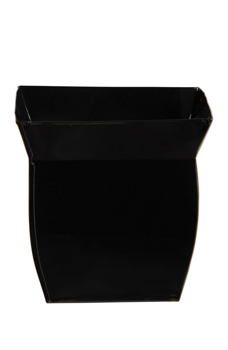 NEARLY NATURAL 8in. Fluted Metal Square Planter, Main, color, BLACK