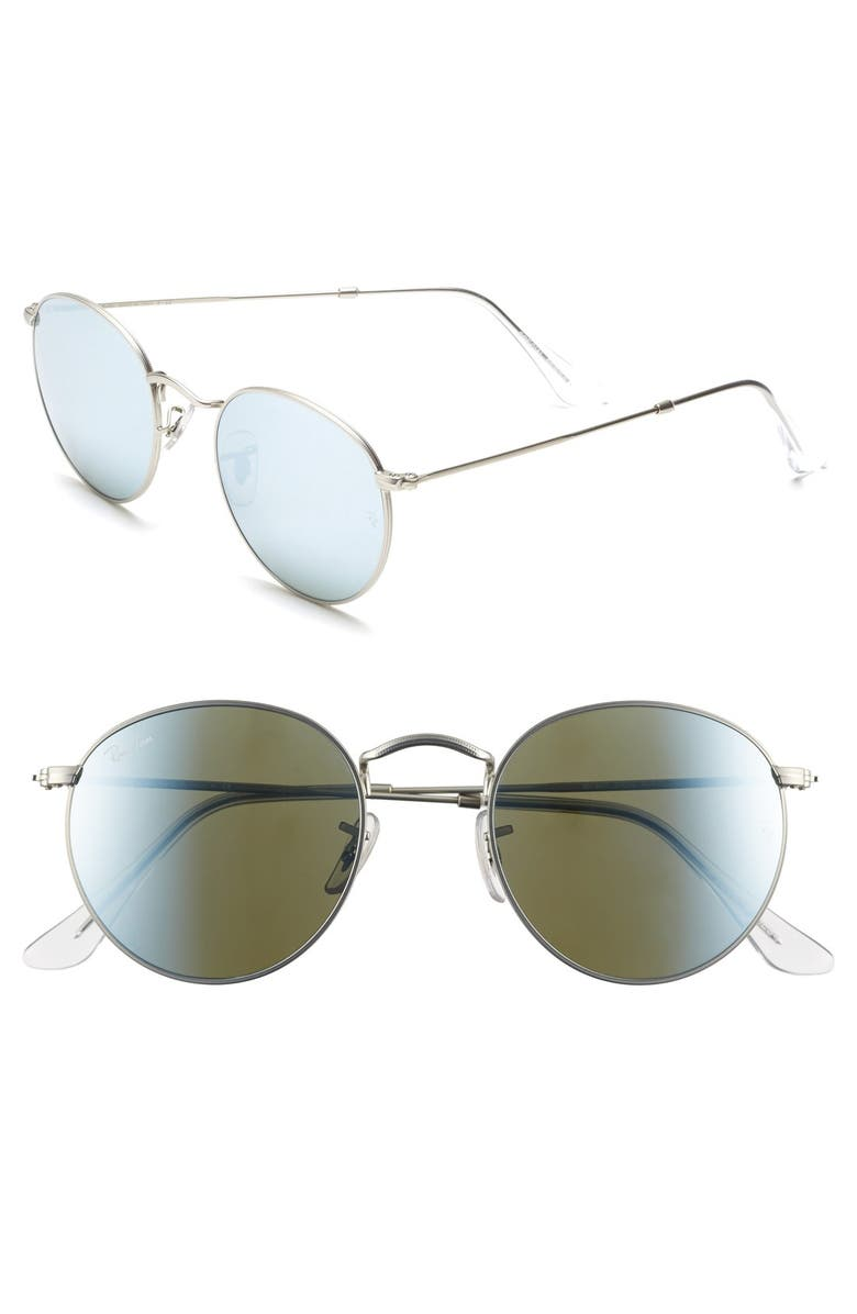 RAY-BAN Icons 50mm Sunglasses, Main, color, SILVER MIRROR