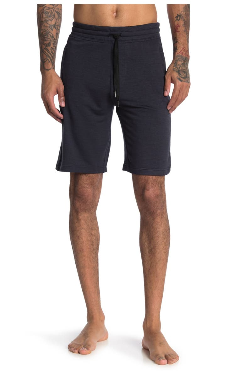 90 DEGREE BY REFLEX Terry Shorts, Main, color, HTR.BLACK NAVY