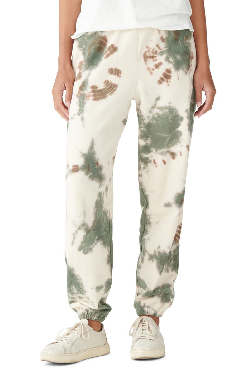 LUCKY BRAND Tie Dye Joggers, Main, color, WHISPER WHITE