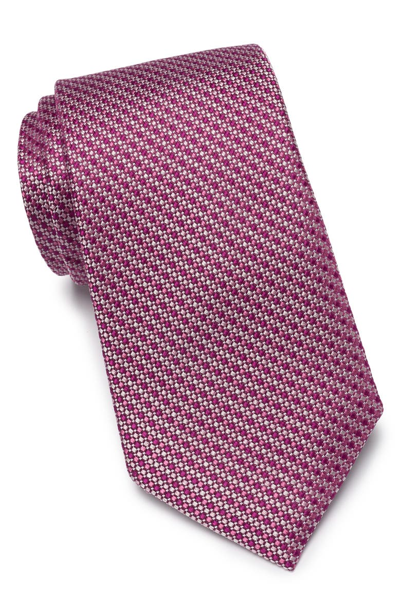 NORDSTROM MENS SHOP Bommer Mini Print Extra Large Tie, Main, color, PINK