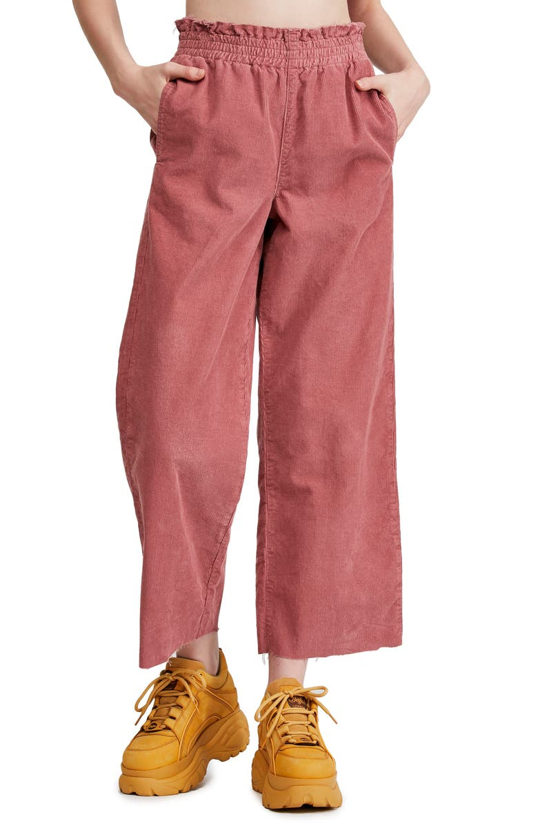 BDG URBAN OUTFITTERS Paperbag Waist Corduroy Trousers, Main, color, 650