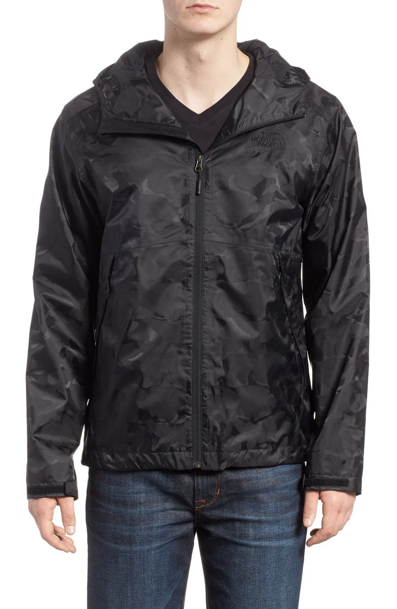 THE NORTH FACE Millerton Hooded Waterproof Jacket, Main, color, 001