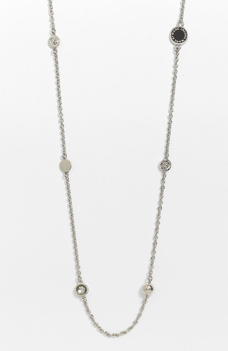 MARC BY MARC JACOBS 'Classic Marc' Station Necklace, Main, color, 001