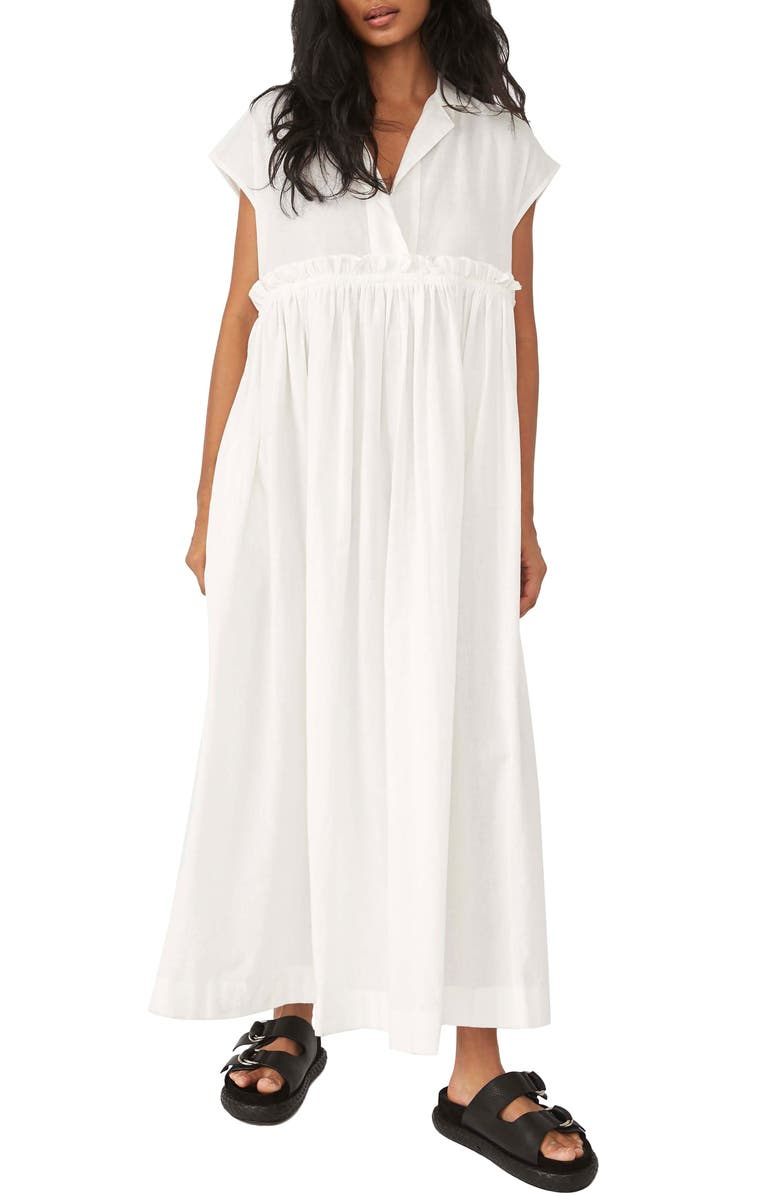 FREE PEOPLE All Occasions Maxi Shirtdress, Main, color, IVORY