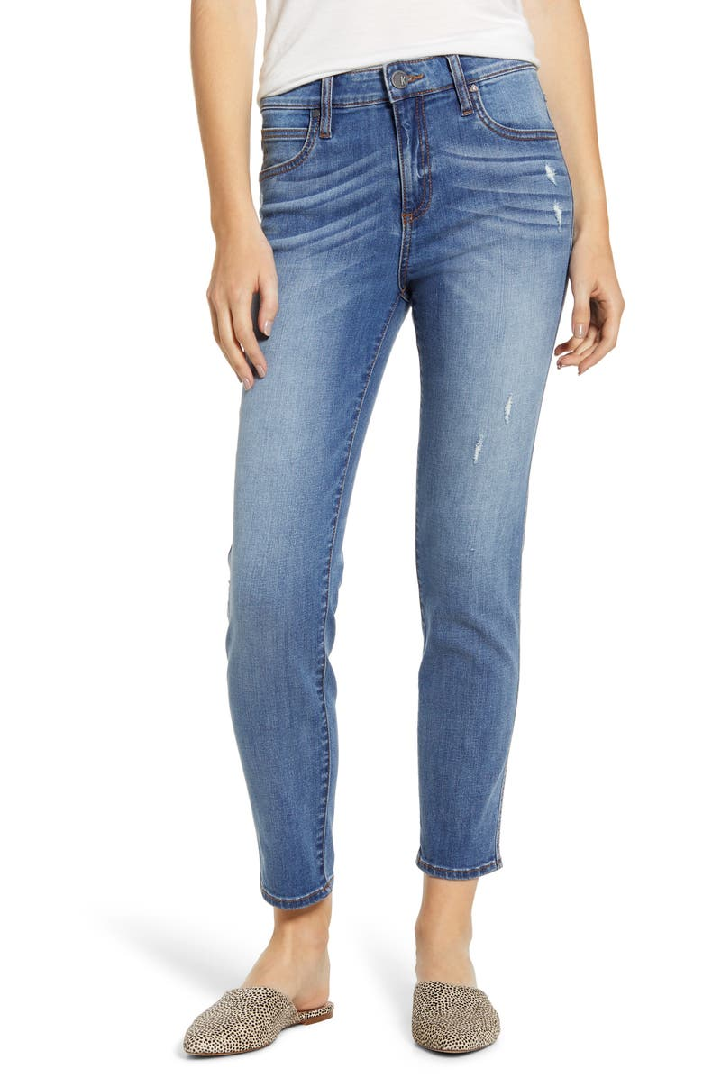 KUT FROM THE KLOTH High Waist Ankle Cigarette Jeans, Main, color, 400