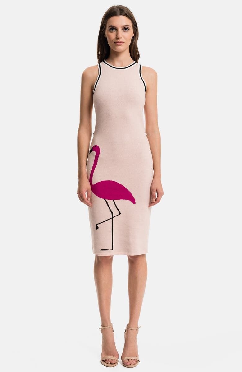 1.STATE Flamingo Body-Con Dress, Main, color, CAMEO PINK
