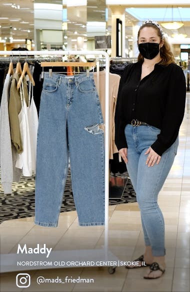 Ripped Drop Baggy Wide Leg Jeans, sales video thumbnail
