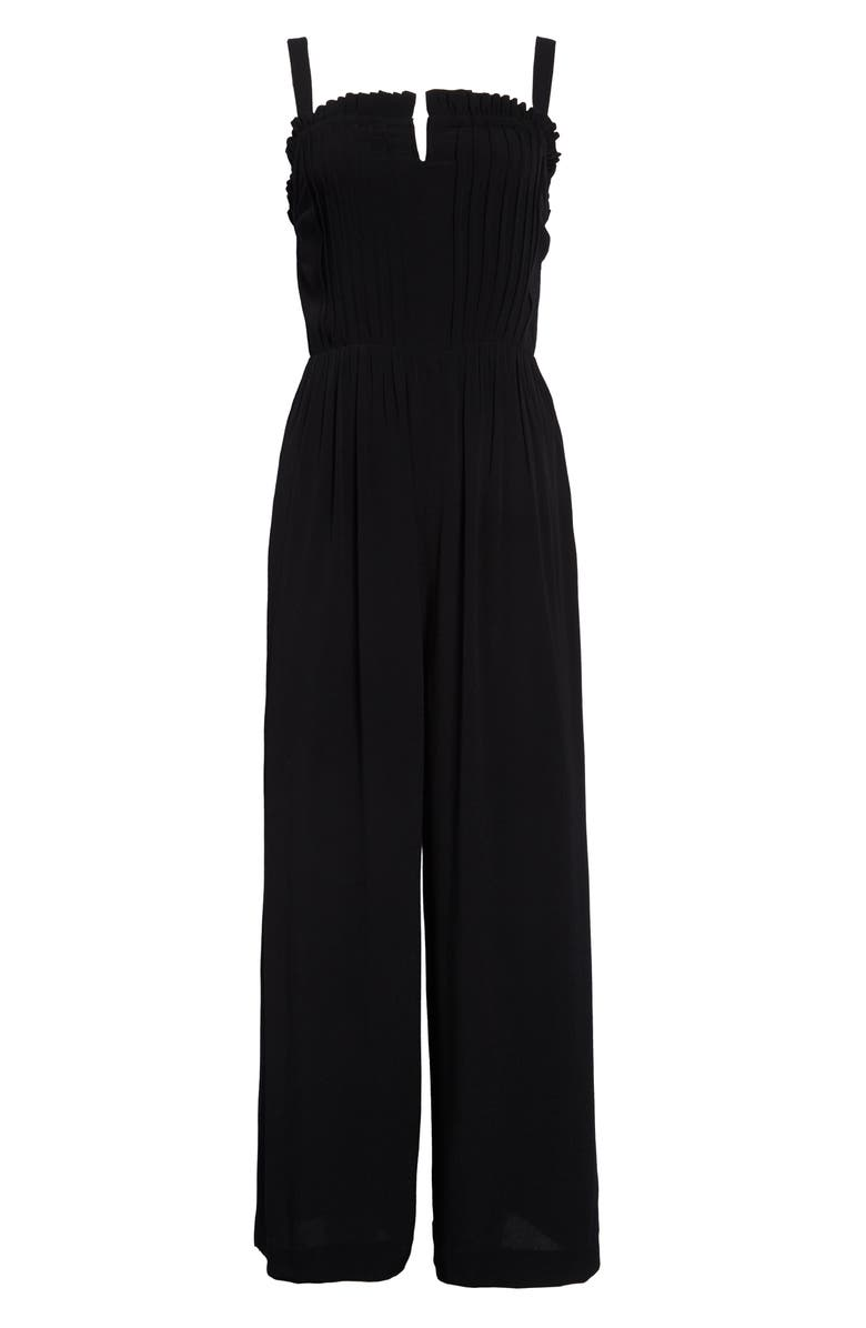 MADEWELL Pintuck Cami Jumpsuit in Solid, Main, color, 001
