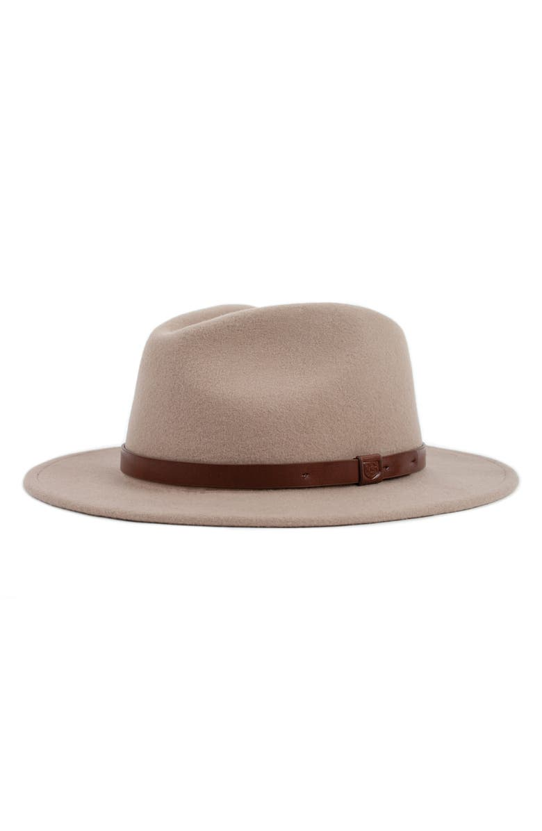 BRIXTON 'Messer' Wool Fedora, Main, color, FAWN