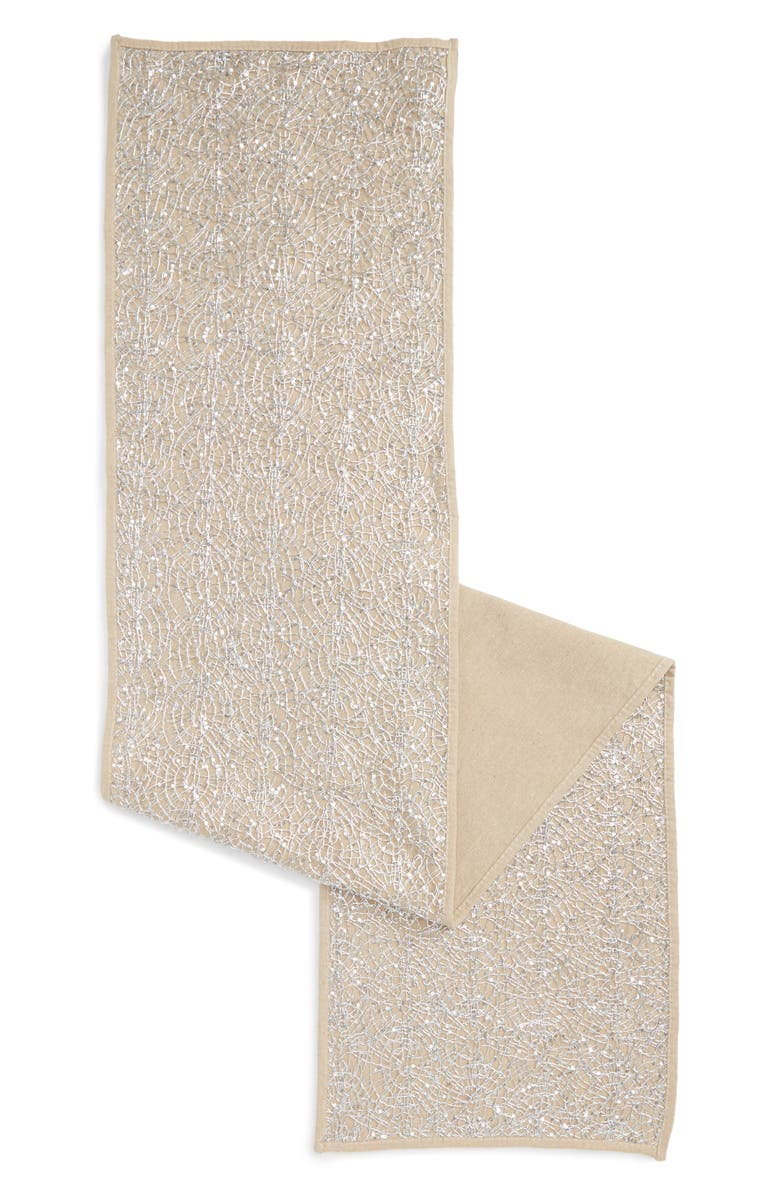 LEVTEX Silver Overlay Runner, Main, color, Silver