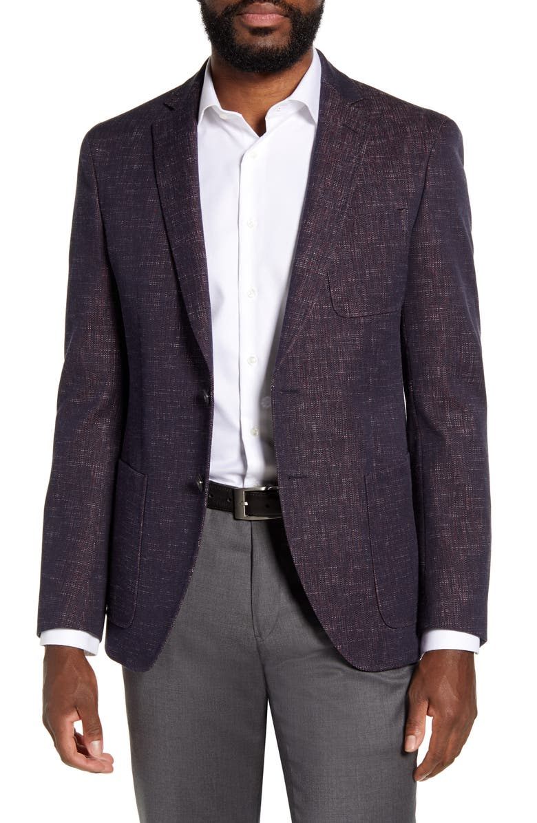BOSS Raye Slim Fit Stretch Solid Cotton Sport Coat, Main, color, 402