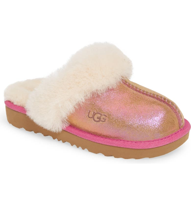 UGG<SUP>®</SUP> Cozy II Shimmer Genuine Shearling Slipper, Main, color, 218