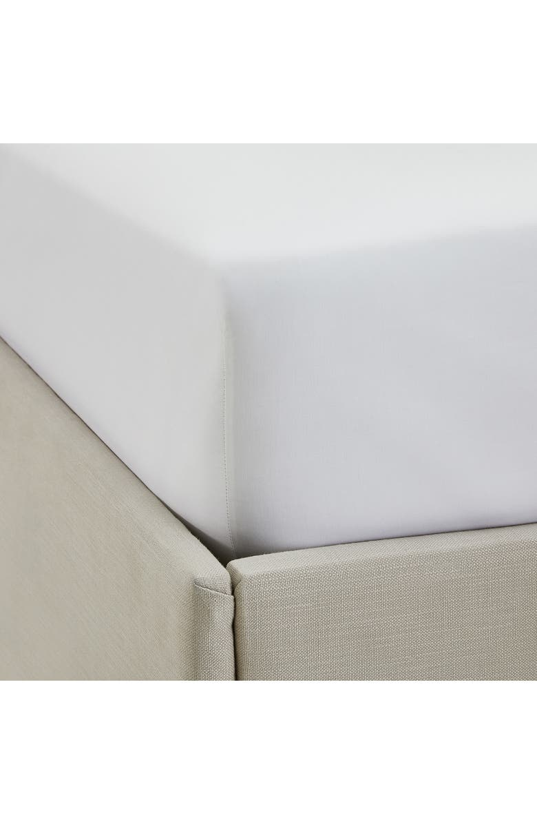 THE WHITE COMPANY 200 Thread Count Flat Sheet, Main, color, WHITE/WHITE