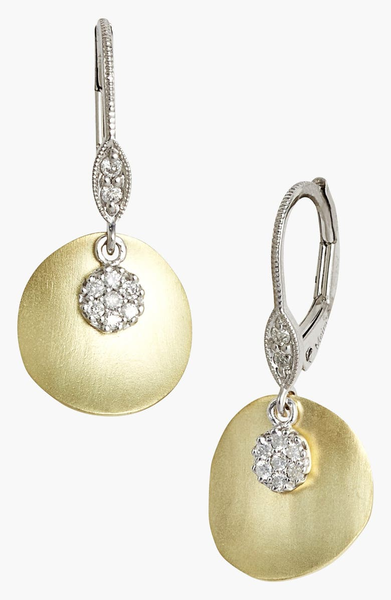 MEIRA T Charmed Diamond Drop Earrings, Main, color, YELLOW GOLD
