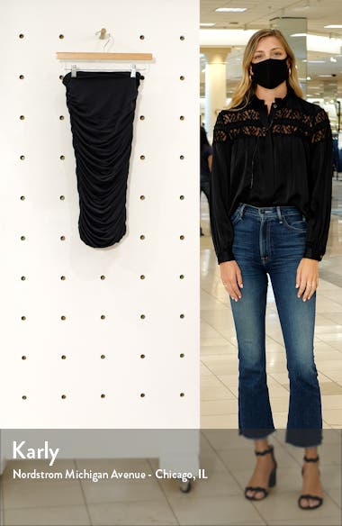 Melanie Fitted Shirred Pencil Skirt, sales video thumbnail