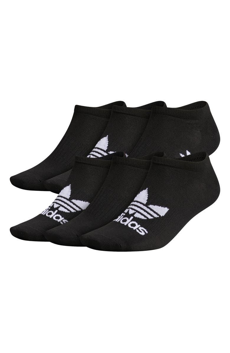 ADIDAS Originals Assorted 6-Pack No-Show Socks, Main, color, BLACK/ WHITE