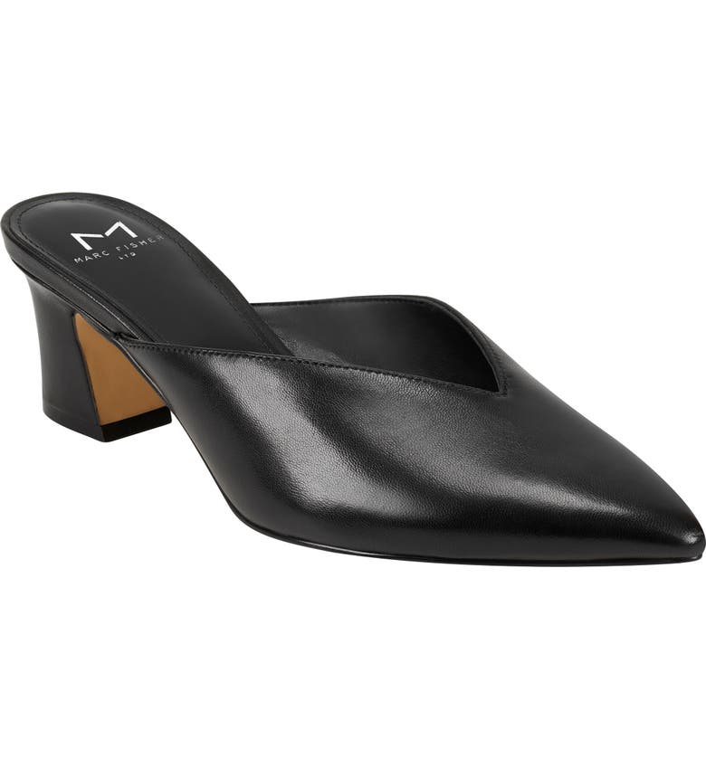 MARC FISHER LTD Bancy Pointed Toe Mule, Main, color, 001