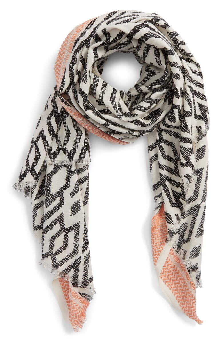 SOLE SOCIETY Ikat Scarf, Main, color, 001
