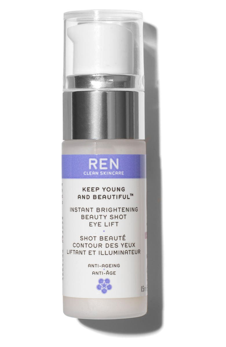 REN CLEAN SKINCARE SPACE.NK.apothecary REN Keep Young and Beautiful Instant Brightening Beauty Shot Eye Lift, Main, color, 000