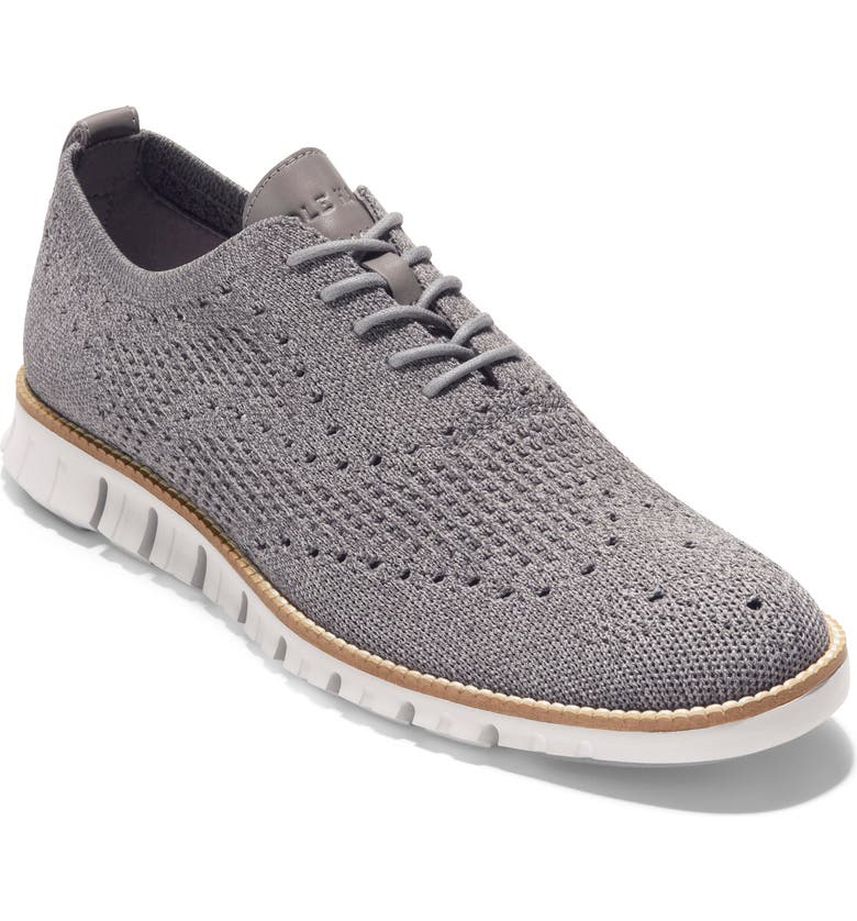 COLE HAAN ZeroGrand Waffle Stitchlite Oxford, Main, color, MAGNET/ IRONSTONE WAF KNIT